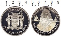 Изображение Монеты Ямайка 10 долларов 1974 Серебро UNC