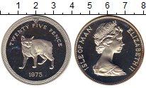 Изображение Монеты Остров Мэн 25 пенсов 1975 Серебро Proof-