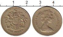 Изображение Монеты Великобритания 1 фунт 1983 Латунь XF