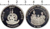 Изображение Монеты Вануату 10 вату 1997 Серебро Proof