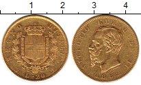Изображение Монеты Италия 20 лир 1862 Золото XF-