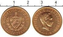 Изображение Монеты Куба 5 песо 1916 Золото XF