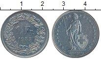 Изображение Монеты Швейцария 1 франк 1985 Медно-никель XF