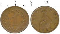 Изображение Монеты Зимбабве 1 цент 1986 Бронза XF