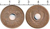 Изображение Монеты Великобритания Восточная Африка 5 центов 1925 Бронза XF