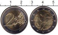 Изображение Монеты Словения 2 евро 2008 Биметалл UNC-