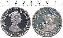 Изображение Монеты Великобритания Гибралтар 5 фунтов 2014 Серебро Proof