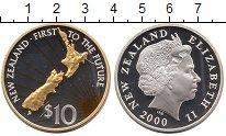 Изображение Монеты Новая Зеландия 10 долларов 2000 Серебро Proof