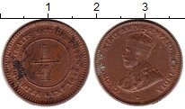 Изображение Монеты Великобритания Стрейтс-Сеттльмент 1/4 цента 1916 Бронза XF+