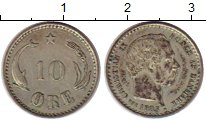 Изображение Монеты Дания 10 эре 1903 Серебро XF