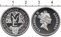 Изображение Монеты Великобритания Олдерни 1 фунт 1995 Серебро Proof