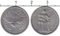 Изображение Монеты Франция Новая Каледония 50 сантим 1948 Алюминий UNC-