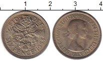 Изображение Монеты Великобритания 6 пенсов 1953 Медно-никель UNC-