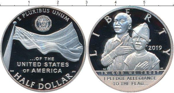 Картинка Монеты США 1/2 доллара Медно-никель 2019