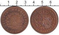 Изображение Монеты Португалия 10 рейс 1842 Медь XF-