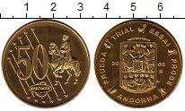 Изображение Монеты Андорра 50 евроцентов 2003 Латунь UNC