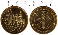Изображение Монеты Латвия 50 евроцентов 2003 Латунь UNC