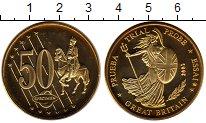 Изображение Монеты Великобритания 50 евроцентов 2002 Латунь UNC