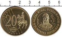 Изображение Монеты Словакия 20 евроцентов 2003 Латунь UNC