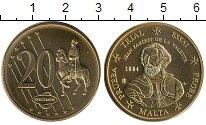 Изображение Монеты Мальта 20 евроцентов 2004 Латунь UNC