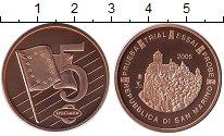 Изображение Монеты Сан-Марино 5 евроцентов 2005 Бронза UNC