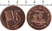 Изображение Монеты Литва 5 евроцентов 2003 Бронза UNC
