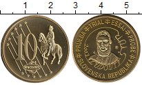 Изображение Монеты Словакия 10 евроцентов 2003 Латунь UNC