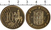 Изображение Монеты Андорра 10 евроцентов 2003 Латунь UNC