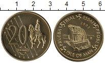 Изображение Монеты Остров Мэн 20 евроцентов 2003 Латунь UNC