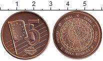 Изображение Монеты Чехия 5 евроцентов 2003 Бронза UNC