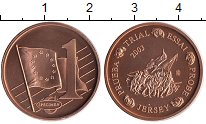 Изображение Монеты Великобритания Остров Джерси 1 евроцент 2003 Бронза UNC