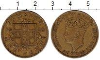 Изображение Монеты Ямайка 1 пенни 1938 Латунь XF