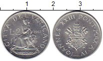 Изображение Монеты Ватикан 2 лиры 1962 Алюминий UNC