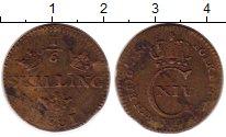 Изображение Монеты Швеция 1/6 скиллинга 1831 Медь VF