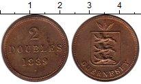 Изображение Монеты Великобритания Гернси 2 дубля 1889 Бронза UNC-
