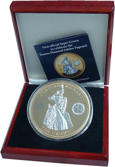 Изображение Подарочные монеты Великобритания Тристан-да-Кунья 10 крон 2012 Позолота Proof