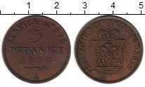 Изображение Монеты Германия Шварцбург-Зондерхаузен 3 пфеннига 1870 Медь XF