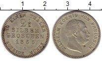 Изображение Монеты Германия Пруссия 2 1/2 гроша 1865 Серебро UNC-