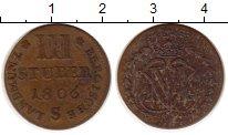 Изображение Монеты Германия Юлих-Берг 3 стюбера 1806 Медь XF-
