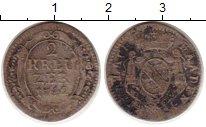 Изображение Монеты Германия Баден 2 крейцера 1742 Серебро VF