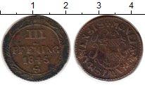 Изображение Монеты Германия Висмар 3 пфеннига 1845 Медь VF