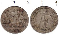 Изображение Монеты Мекленбург-Стрелитц 1/24 талера 1766 Серебро XF-