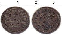 Изображение Монеты Германия Бранденбург-Ансбах 4 пфеннига 1781 Серебро XF