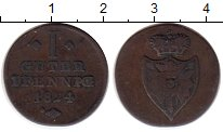Изображение Монеты Германия Шаумбург-Липпе 1 пфенниг 1824 Медь VF