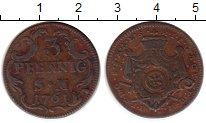 Изображение Монеты Германия Эрфурт 3 пфеннига 1761 Медь XF-