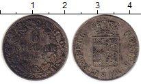 Изображение Монеты Германия Вюртемберг 6 крейцеров 1842 Серебро XF-