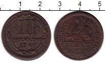 Изображение Монеты Германия Мюнстер 3 пфеннига 1748 Медь XF
