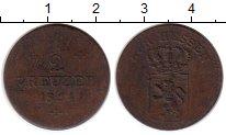 Изображение Монеты Германия Гессен-Дармштадт 1/2 крейцера 1824 Медь VF