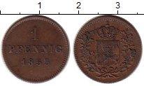 Изображение Монеты Германия Бавария 1 пфенниг 1853 Медь XF