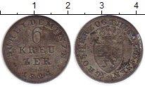 Изображение Монеты Германия Гессен-Дармштадт 6 крейцеров 1824 Серебро VF